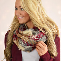 Knit Multi Color Infinity Scarf