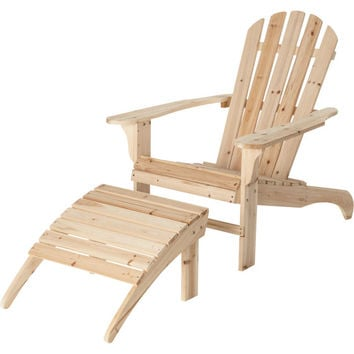 New Cedar Adirondack Chair or w/Ottoman porch patio unfinished wood painted stained yard ottoman natural resistant furniture free shipping