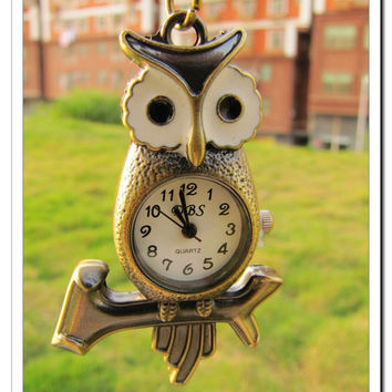 Fashion Adjustable Vintage antique Owl Pocket by sevenvsxiao
