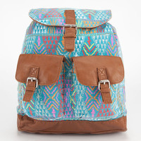 T-Shirt & Jeans Tribal Print Rucksack Blue Combo One Size For Women 23508024901