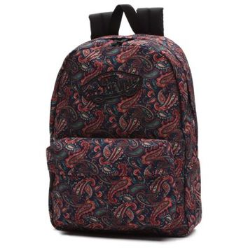 Vans Paisley Realm Backpack (Bison/True White)