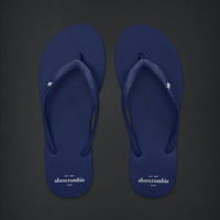 NEW Abercrombie Kids Classic Flip Flops in Blue - Size Small (Shoe Size 5/6)