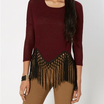 Zigzag Fringed Top