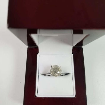 4.01 Carat H I2 Diamond Engagement Ring 14K 4 Prong Bridal Certified Jewelry 9.45 mm  Hot Sale! Great Size ! Bargain of the Month!