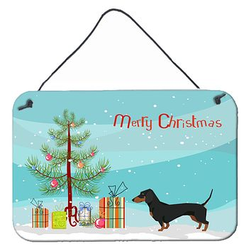 Dachshund Christmas Tree Wall or Door Hanging Prints CK3533DS812