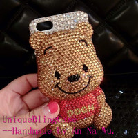 Lovely 3D bling crystal bear iphone 6 case iphone 6 plus case iphone 5 5s case iphone 4 4s samsung galaxy note 4 case samsung galaxy s5 case