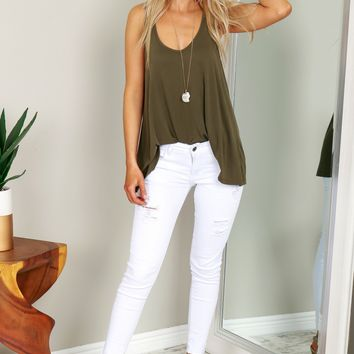 Distressed Skinny Ankle Jeans White