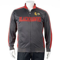 Chicago Blackhawks Majestic Full Zip Tricot Track Jacket Size 5XL