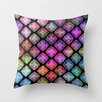 Rings Of Color Pattern Throw Pillow by Sartoris ART