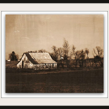 Vintage Rustic Farm Print | Oklahoma Photography | Home Decor | Home & Office | Gift Under 30