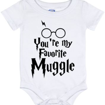 Cute Harry Potter Favorite Muggle Onesuit - all sizes from (New born - 24 months)