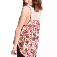 Floral Lace Tank Top - LoveCulture