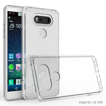 GKK Quality Crystal Clear Cover Phone Case for LG V20 Case telefone Anti-knock V 20 Coque Phone fundas Cover