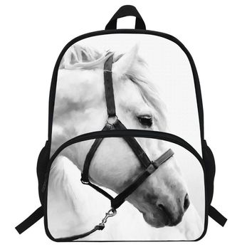 16-Inch Popular Animal Bags Children School Bags Zebra Backpack For Kids Girls Horse Print Backpacks For Boys Animal Backpack