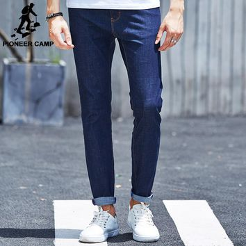 Pioneer Camp Skinny Jeans Men Fashion Casual Jeans Male Brand New denim pants top quality Thin Soft Stretch trousers 611001