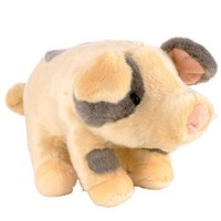 Animal Alley Realistic Farm 13 inch Stuffed Pig - Grey Spots