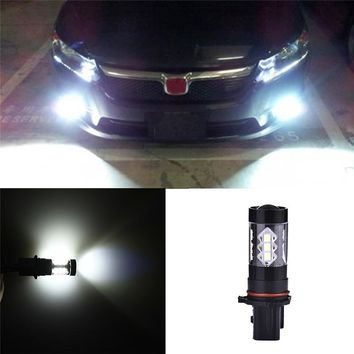 White High Power 80W P13W LED Bulbs for Chevy Camaro Fog Daytime Driving Lights Car LED 12-24V Lamp Bulbs Car Accessories 2Pcs