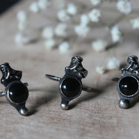 New moon witch ring