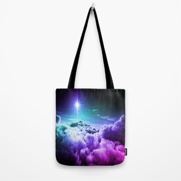 Cool Tone Ombre Clouds Tote Bag by 2sweet4words Designs