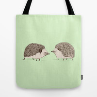 Two Hedgehogs Tote Bag by Sophie Corrigan