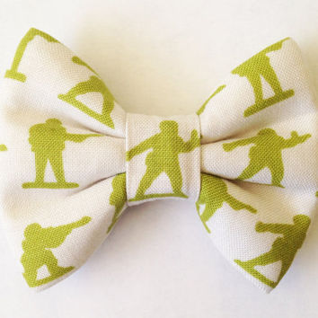Army Men Handmade Bow (Handmade Bow / Bow Tie / or Headband)