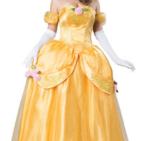 Yellow Fairytale Princess Elite -  Adult Costume