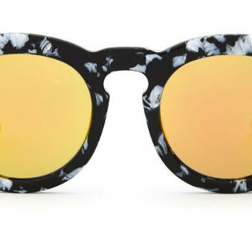 DIME - BLACK / WHITE FRAME - GOLD MIRROR LENS