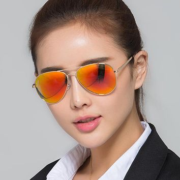 Women Men Polarized Sunglasses Color Explosion Sun Glasses Aviator Eyeglasses Leisure Driver Shades Spectacles
