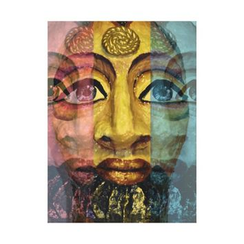 Egyptian goddess beautiful painting canvas print