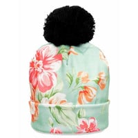 Light Floral Beanie