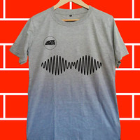 Arctic monkeys AM logo - Screenprint Grey T shirt for Woman and Mens fast shipping