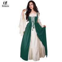 Woman's Renaissance Victorian Medieval Gothic Long Dresses  For Halloween Ball Gowns Costumes Gothic Evening Dresses