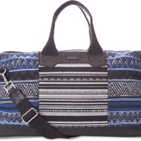 Black Stripe Tribal Traveler Weekender | TOMS