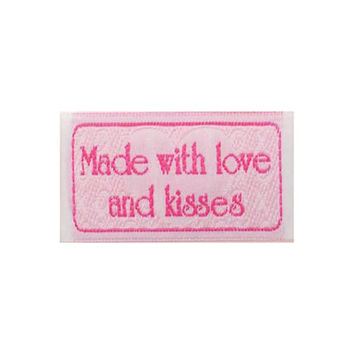Made with love and kisses Sewing Labels Quilting Labels BL-LL2553