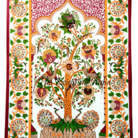 Tree Of Life Wall Tapestry Wall Hanging Cotton Bedding Throw Wall Decor Art 5463