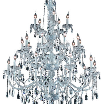 Elegant Lighting - 7925 Verona Collection Large Hanging Fixture D43in H68in Lt:25 Chrome Finish (Royal Cut Crystals)