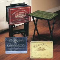 Set of Four Tuscan Wine TV Trays - Grandin Road