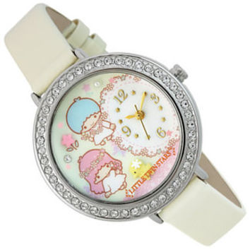 Ishinomaki places cute SANRIO guitarist belt deck watch watches white SR-D10