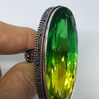 Vintage Green Shaded Art Glass about 2 inch long knuckle ring