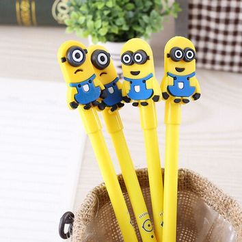 12PCS Baby shower favors and birthday party decoration kids cute pen minions neutral pen for party souvenirs