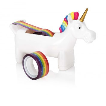 Unicorn Tape Dispenser with Rainbow Tape