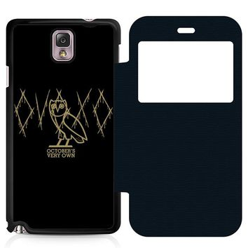 Ovoxo October Very Own Leather Wallet Flip Case Samsung Galaxy Note 3