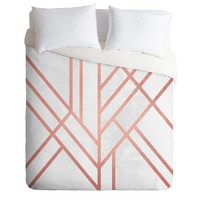 Elisabeth Fredriksson Art Deco Rose Gold Duvet Cover