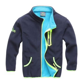 2018 Autumn Winter Children Jacket Trendy Boys Sport Jacket kids Polar Fleece Soft Shell Clothing Kids Outerwear coat 4-13 years