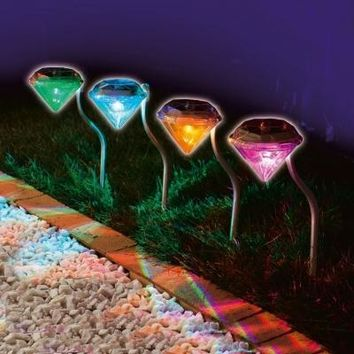 Garden Path Solar Lights - 4 Lights
