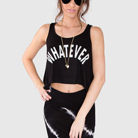 Whatever! Crop Top - Black