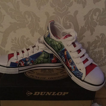 Marvel avengers decoupage shoes daps