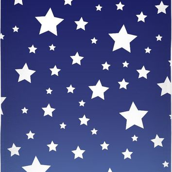 ROBT White Stars Blue Ombre Towel