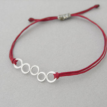 Friendship bracelet, open circles charm bracelet, stacking, dainty, everyday bracelet, best friends bracelet