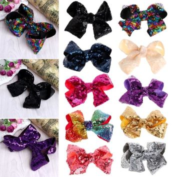 Girl Butterfly Hair Clip Colorful Bow Sequins kids Hairpins Barrette